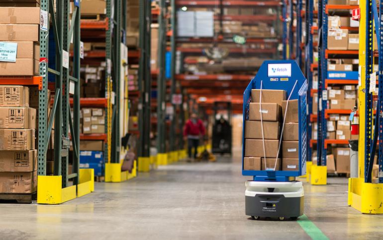 Xe tự hành AGV trong nhà máy sản xuất thông minh