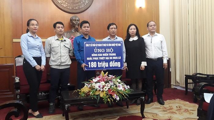 Intech Group ủng hộ đồng bào Miền Trung