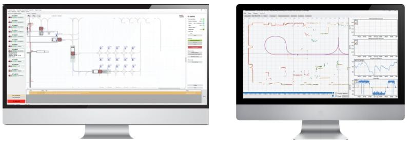 Hệ thống điều khiển trung tâm và phần mềm agv