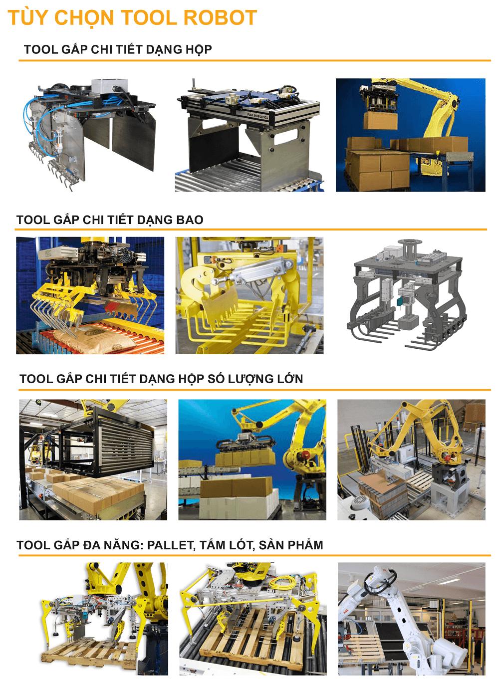 Tùy chọn tool robot
